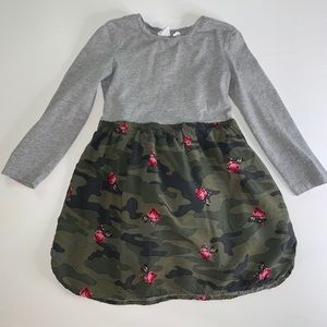 ^^ Gap Kids Gray and camouflage dress